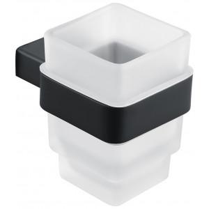 Стакан для зубных щеток Asignatura Unique черный матовый 85601802
