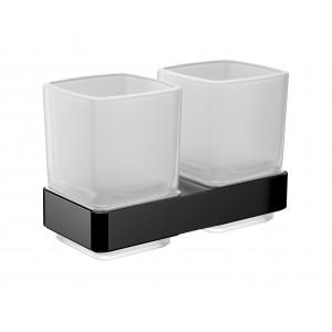 Двойной стакан для зубных щёток Emco Loft Black 0525 133 00