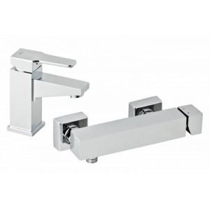 Набор смесителей для раковины и душа GENEBRE Kenjo 02KE-shower