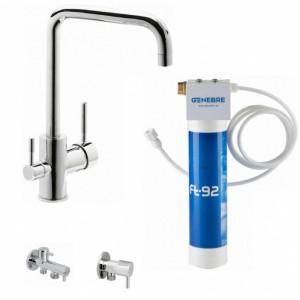 Кухонный смеситель с системой очистки воды GENEBRE Tau FT65702