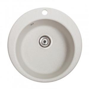 Кухонна мийка гранітна Galati Eva Biela 3402
