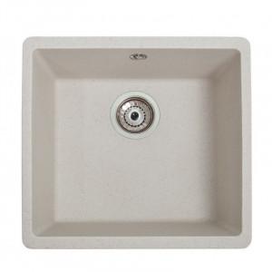 Кухонна гранітна мийка під стільницю Galati Mira-U-400 Biela 3409