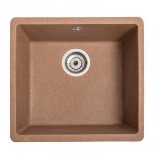 Кухонна гранітна мийка під стільницю Galati Mira-U-400 Teracota 3411