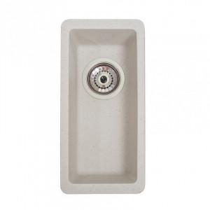Кухонна гранітна мийка під стільницю Galati Mira U-160 Biela 3416