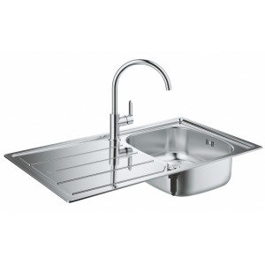 Кухонна мийка з нержавіючої сталі зі змішувачем Grohe Bau 31562SD0