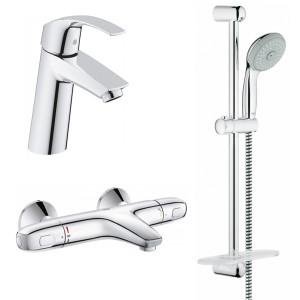 Набір змішувачів для ванни і раковини Grohe Eurosmart 34101TM