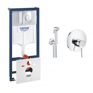 Комплект Grohe инсталляция Rapid SL 38721001+BauClassic 2904800S