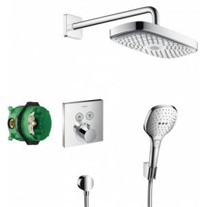 Душевая система скрытого монтажа с термостатом ShowerSelect Hansgrohe 27296000