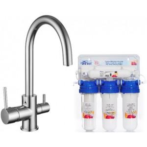 Смеситель с системой очистки воды Imprese 55009-U+RO512.WFU-N