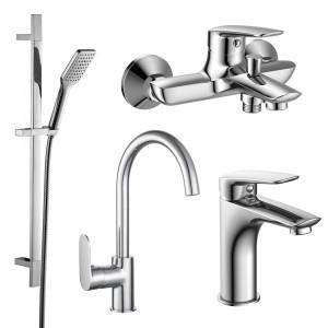 Набор смесителей для ванны 4 в 1 Imprese 51003055