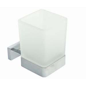 Стакан підвісний скло мат/хром Inda Lea A18100 CR 21