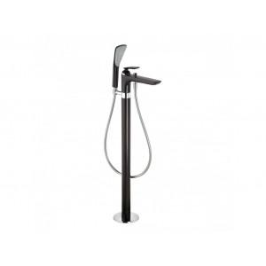 Смеситель для ванны напольный Kludi Balance Black Matte 525908775