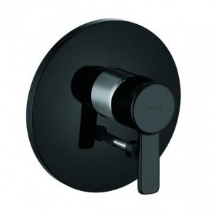 Черная внешняя часть смесителя для ванны Kludi Zenta 386508675