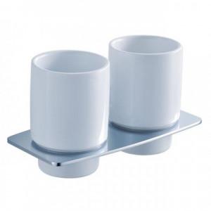 Пара керамических стаканов с настенным держателем Kraus KEA-13316CH