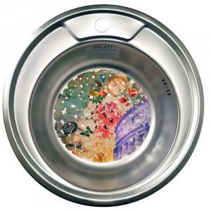 Кухонная стальная мойка Galati Eko Sorin Satin 5486