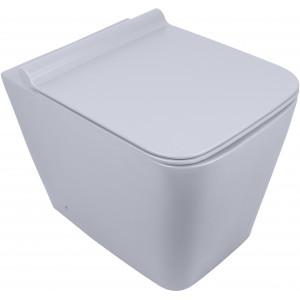 Чаша пристенного унитаза Newarc Aqua c крышкой серый матовый 9427GR-M
