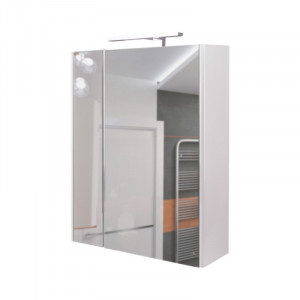 Зеркальный шкаф Q-tap Albatross WHI ZP600L со светильником