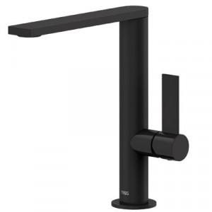 Высокий черный смеситель для умывальника Tres Project 21130501NMD