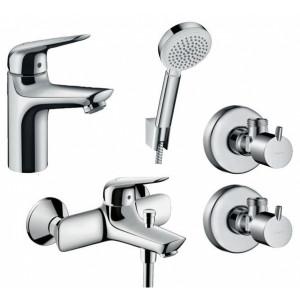 Набор смесителей в ванную 4 в 1 Hansgrohe NOVUS 710342664