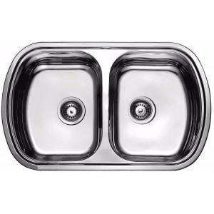 Кухонная мойка из нержавеющей стали ULA HB 7702 ZS DECOR