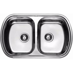 Кухонная мойка из нержавеющей стали ULA HB 7702 ZS POLISH