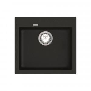 Кухонная мойка VANKOR Orman OMP 01.49 Black + сифон VANKOR