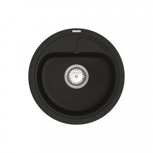 Кухонная мойка VANKOR Polo PMR 01.44 Black + сифон VANKOR