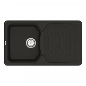 Кухонная мойка VANKOR Sigma SMP 02.85 Black + сифон VANKOR