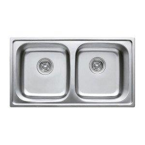 Мойка кухонная Haiba 78x43 DOUBLE polish HB0568